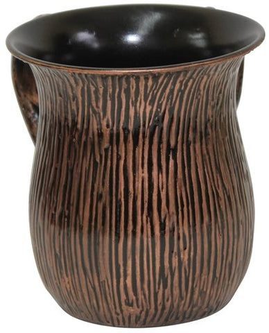 Ultimate Judaica Wash Cup Stainless Steel Copper/Black 5.5 inch H