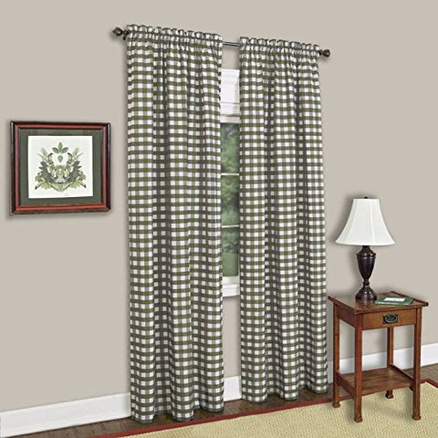 Park Avenue Collection Buffalo Check Panel - 42x84 - Sage