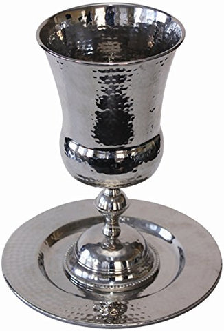 Elijahs Cup Nickel Hammered 9 inch