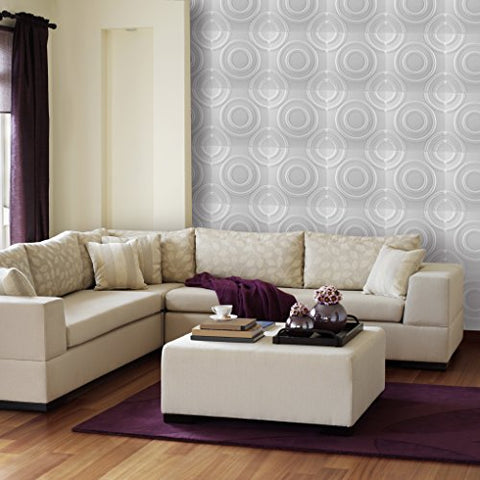 Ben&Jonah Collection Donny Osmond Circles 19.6x19.6 Self Adhesive Wall Tile - 10 Tiles/26.70 sq Ft.