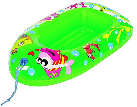 Pool Central Sea Life Children'S Swimming Pool Inflatable Boat Raft Float Green 44 inch