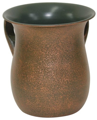 Ultimate Judaica Wash Cup Stainless Steel Black/Gold 5.5 inch H