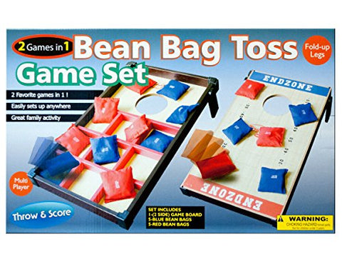 Regalo Perfecto Collection 2 In 1 Bean Bag Toss Game Set
