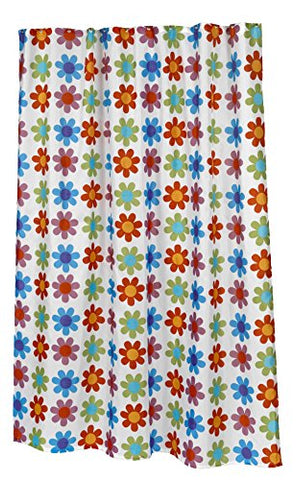 BenandJonah Collection Fabric Extra Long Shower Curtain 70 x 84 inch  Flowers