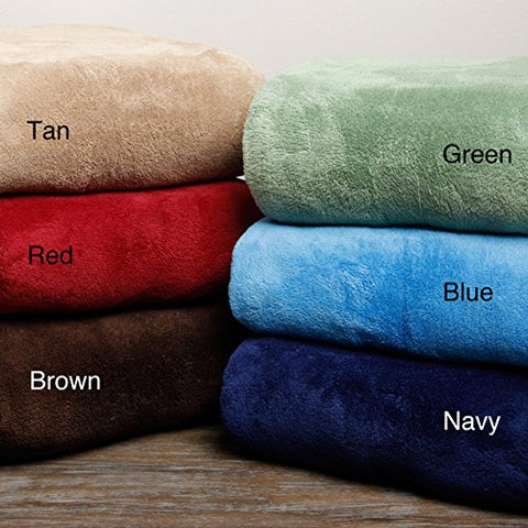 Ultra Soft Tan Design King Size Microplush Blanket