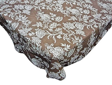 Park Avenue Deluxe Collection Park Avenue Deluxe Collection  inch Floral Cheer inch  70 inch  Round Vinyl Flannel Backed Tablecloth