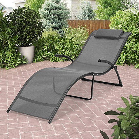 Eclipse Collection Riverside Folding Reclined Lounger 5'10 inch L x 24 inch W x 26 inch H