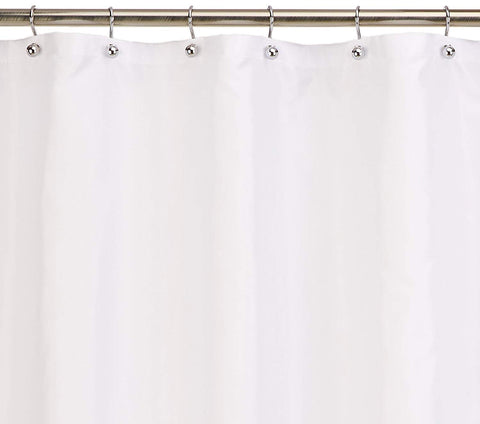 Royal Bath Extra Long Water Repellant Fabric Shower Curtain Liner with Weighted Hem (70 x 84) - Ivory