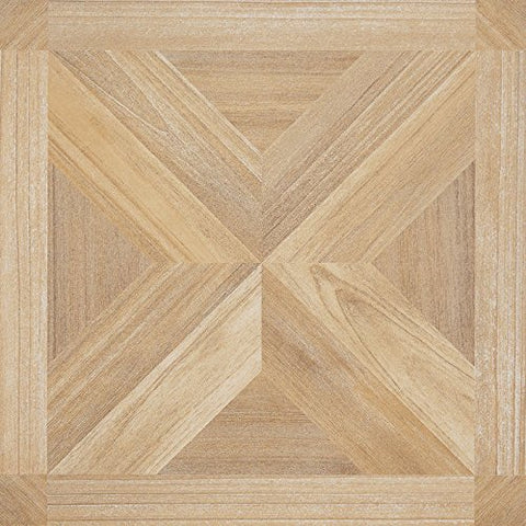 Ben&Jonah Collection Tivoli Maple X Parquet 12x12 Self Adhesive Vinyl Floor Tile - 45 Tiles/45 sq Ft.