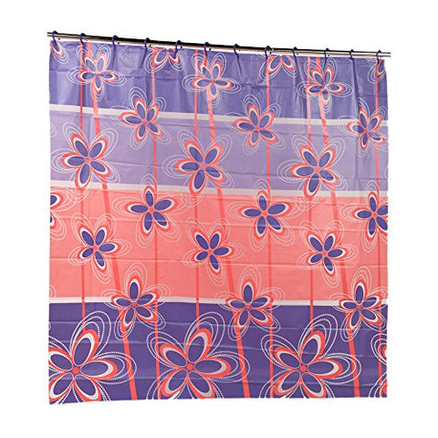 Park Avenue Deluxe Collection Park Avenue Deluxe Collection  inch Posy inch  PEVA Shower Curtain with Built-in Hooks