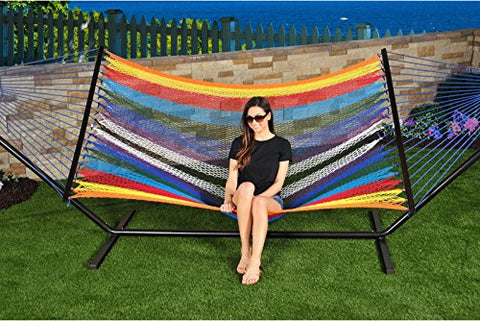 Patio Bliss Hammock Multicolor Cotton Rope - Multicolor