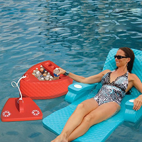 Eclipse Collection uper Soft SS Goodlife Floating Kooler Ice Chest - Made in the USA (Carribean Coral)