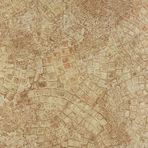 Park Avenue Collection NEXUS Ancient Beige Mosaic 12 Inch x 12 Inch Self Adhesive Vinyl Floor Tile #329 - 20 Tiles