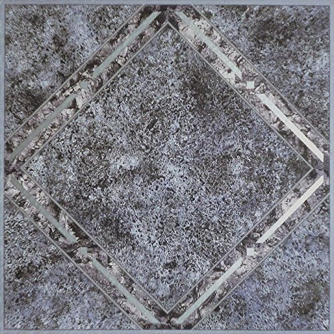 Park Avenue Collection NEXUS Metallic Marble Diamond 12 Inch x 12 Inch Self Adhesive Vinyl Floor Tile #334 - 20 Tiles