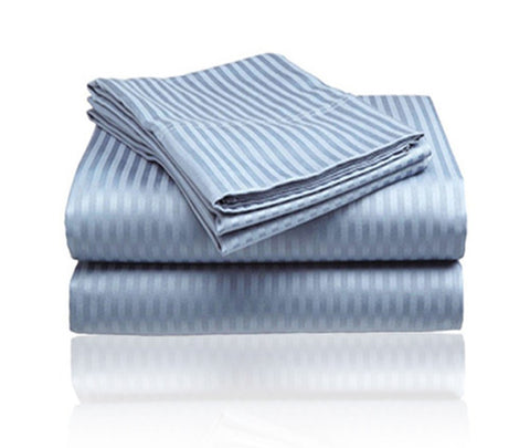 Cozy Home 1800 Series Embossed Striped 3-Piece Sheet Set Twin - Light Blue