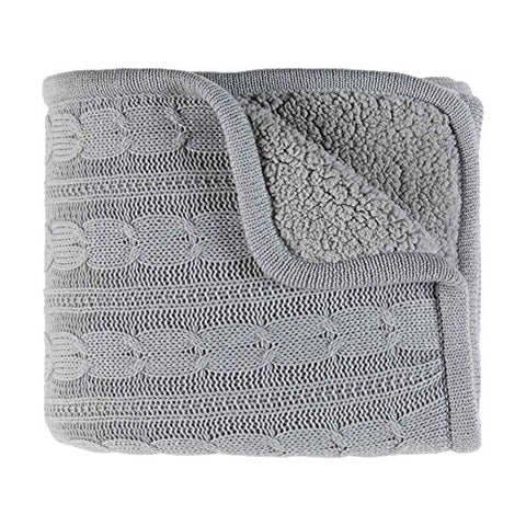 Ben and Jonah Chic Throw Blanket (Grey)