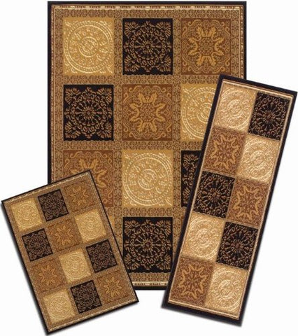 Ben&Jonah Collection Capri 3 Piece Rug Set - Sarouk Squares