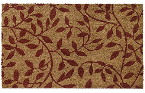 Ben&Jonah Collection Printed Coir Door Mat 18x30 - Leaves