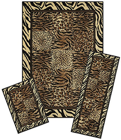 Ben&Jonah Collection Capri 3 Piece Rug Set - Safari