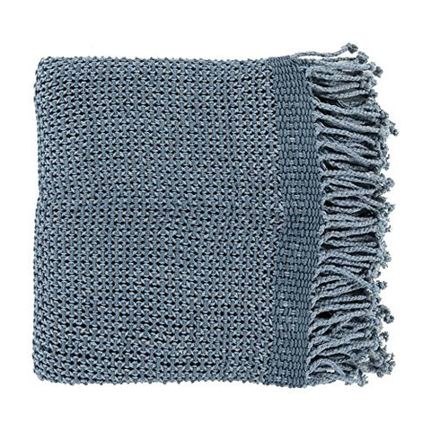 Ben and Jonah Super Soft Throw Blanket (Denim)