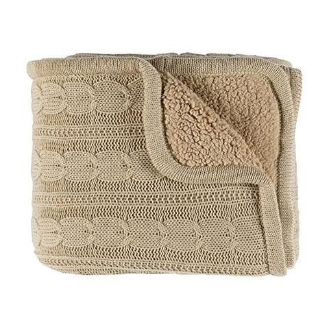 Ben and Jonah Chic Throw Blanket (Beige)