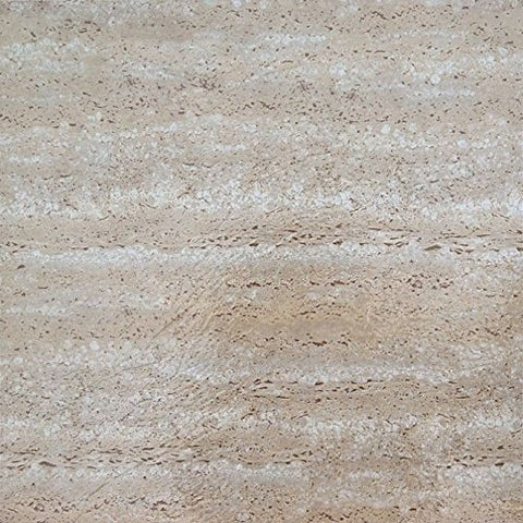 Ben&Jonah Collection Tivoli Travatine Marble 12x12 Self Adhesive Vinyl Floor Tile - 45 Tiles/45 sq Ft.
