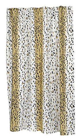 BenandJonah Collection Fabric Extra Long Shower Curtain 70 x 84 inch  Panther Design