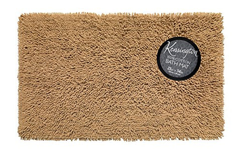 Park Avenue Deluxe Collection Park Avenue Deluxe Collection Shaggy Cotton Chenille Bath Room Rug Size 21 inch x34 inch  in Linen