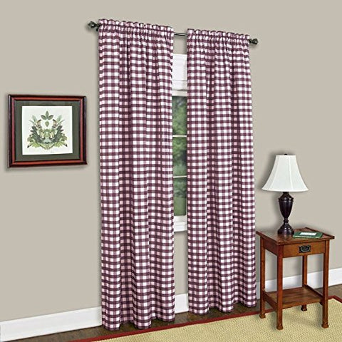 Park Avenue Collection Buffalo Check Panel - 42x63 - Burgundy