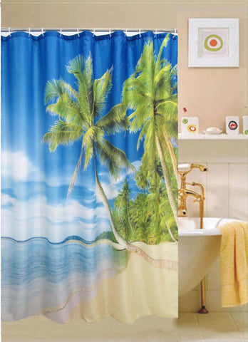 "Royal Bath Tropical Paradise  Fabric Shower Curtain - 71"" x 71"""