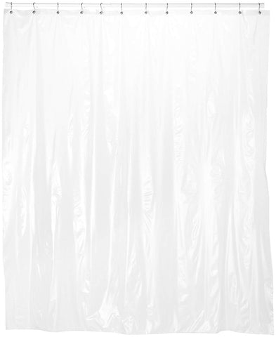 Royal Bath Extra Long 5 Gauge Vinyl Shower Curtain Liner With Metal Grommets In Frosty Clear, Size 72 Wide x 78 Long