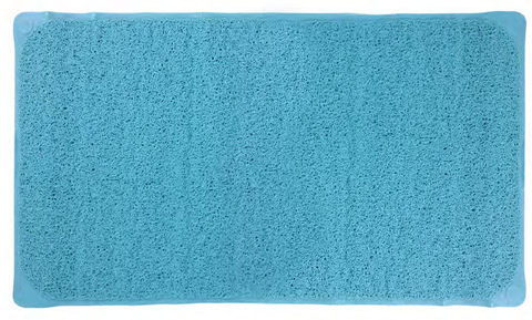 "Royal Bath Luffa Textured Bath Mat (16"" x 28"") - Aqua"