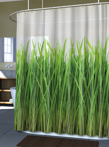 "Royal Bath The Grass Is Always Greener PEVA Non-Toxic Shower Curtain (70"" x 72"")"