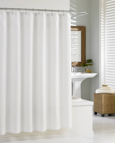 "Royal Bath 100% Cotton Extra Heavy Hotel Quality Shower Curtain (72"" x 72"") - Deluxe Waffle"