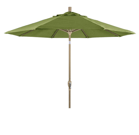 Eclipse Collection 9' Aluminum Market Umbrella Push Tilt - Champagne/Olefin/Antique Beige
