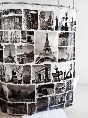 "Royal Bath Paris Glam Landmarks PEVA Non-Toxic Shower Curtain (70"" x 72"")"