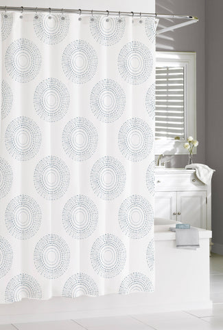 "Royal Bath 100% Cotton Shower Curtain (72"" x 72"") Grey Mandala Burst"