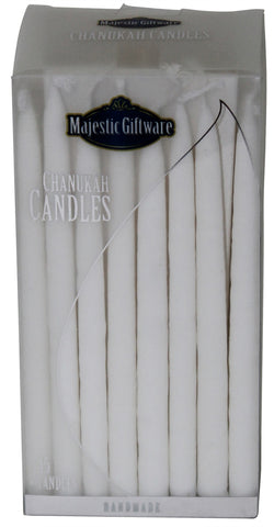 Ben&Jonah Chanukah Candles - Premium Collection - 45 Pack - White - 5""