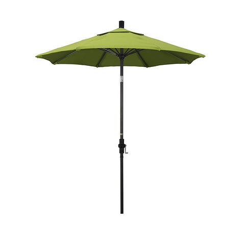 Eclipse Collection 7.5' Fiberglass Market Umbrella Collar Tilt - Bronze/Sunbrella/Macaw