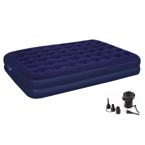 Traditional Elegance Madison Collection Double Queen Air Mattress with Electric Air Pump