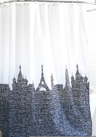 "Royal Bath Metro Landmarks Fabric Shower Curtain (70"" x 72"")"