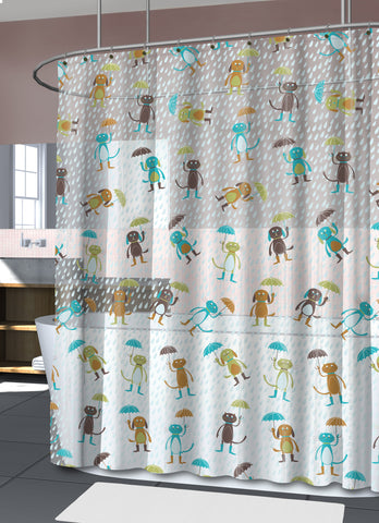 "Royal Bath Raining Cats and Dogs PEVA Non-Toxic Shower Curtain (70"" x 72"")"