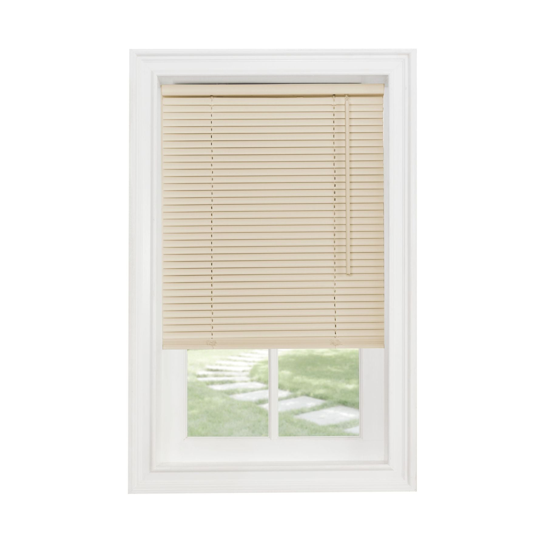 "Traditional Elegance Cordless Sunrise 1"" Light Filtering Mini Blind 29x64 - Alabaster"