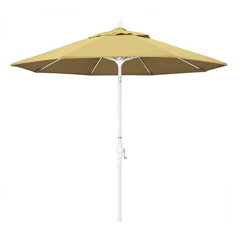 Eclipse Collection 9' Fiberglass Market Umbrella Collar Tilt M White/Sunbrella/Wheat