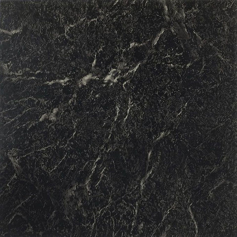 Traditional Elegance Madison Black with White Vein Marble 12x12 Self Adhesive Vinyl Floor Tile - 20 Tiles/20 sq. ft.