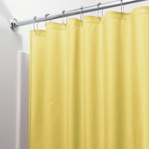 "Royal Bath 3 Gauge Waterproof and Mildew Resistant Vinyl Shower Curtain Liner (70"" x 72"") with Magnets - Yellow"