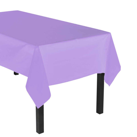 "Party Central Reusable Waterproof Plastic Rectangular Tablecover (54"" x 108"") - Lilac"