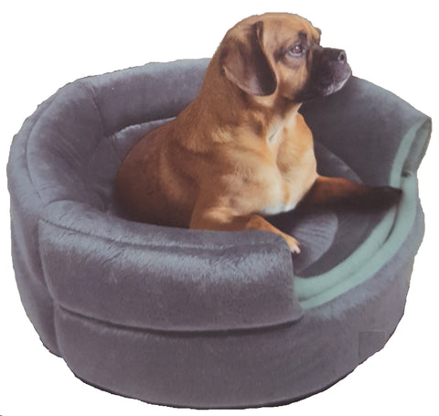 "Pet Rite Collection  Grey Convertible Pet Bed 16"" x 15"" x 12.5"" (Open)"