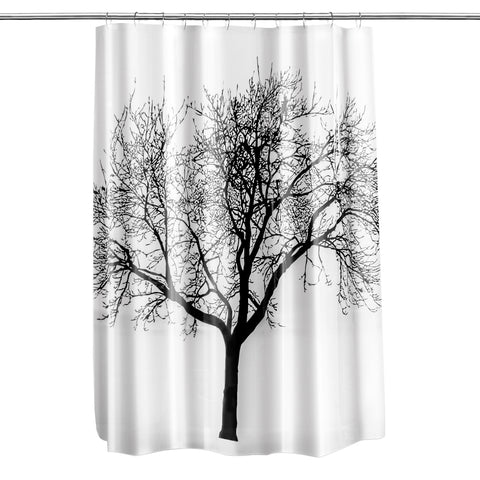 "Royal Bath Tree of Life PEVA Non-Toxic Shower Curtain (70"" x 72"") - Black"