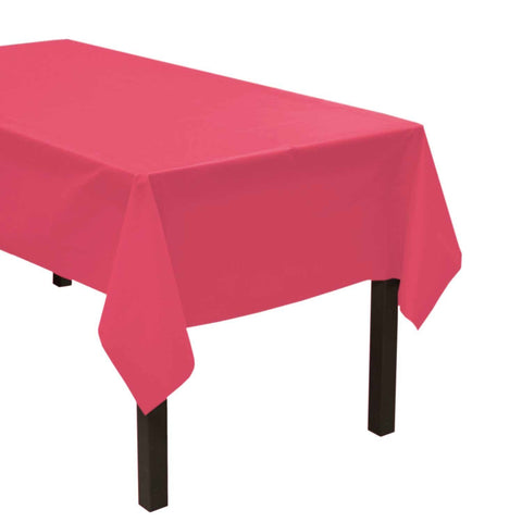 "Party Central Reusable Waterproof Plastic Rectangular Tablecover (54"" x 108"") - Pink"